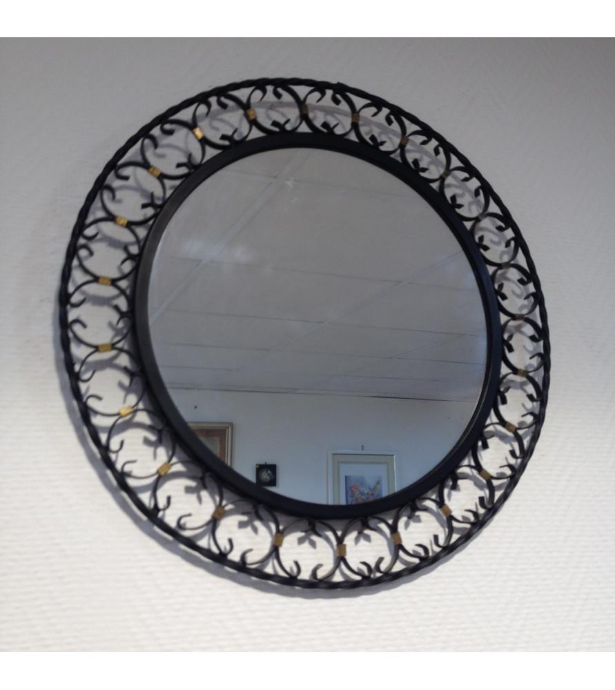 Miroir fer forg vintage vendu par notre petite brocante for Miroir fer forge rectangulaire