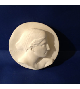 """Sculpture platre """" Profil de Cécilia Odes"""""""