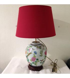 """Lampe en porcelaine """"décor Chinois"""""""