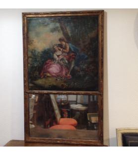 Trumeau avec peinture de scène galante