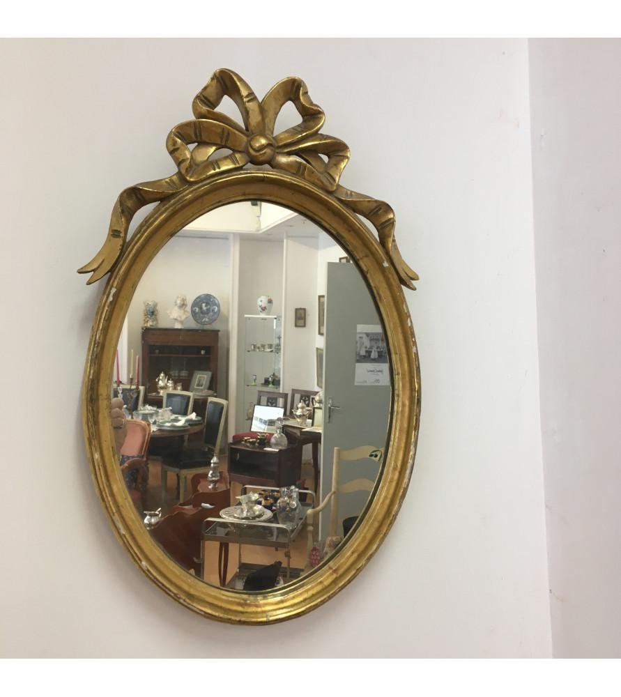 Miroir ovale style louis xvi vendu par notre petite for Miroir louis 16