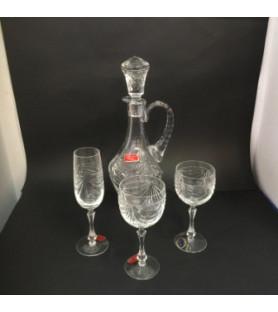 """Service de verres""""Cristallerie de Lorraine"""""""