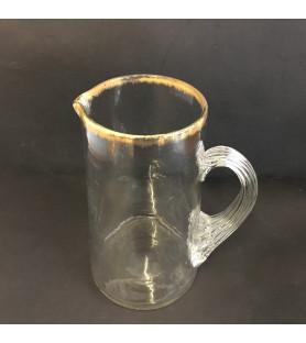 Carafe à eau en verre ancien