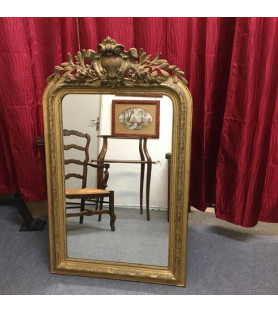 Miroir en stuc doré style Louis XV