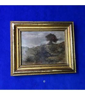 Huile sur panneau paysage, XIXème