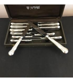Couteaux métal argenté modèle filet chinon