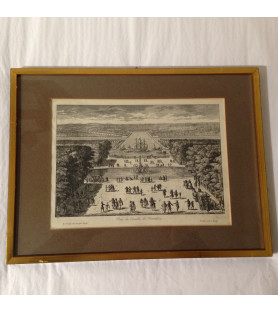 Gravure: vue du grand canal de Versailles