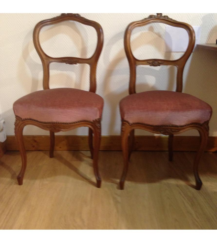 Chaises style Louis XV vendues par Notre petite brocante Valence