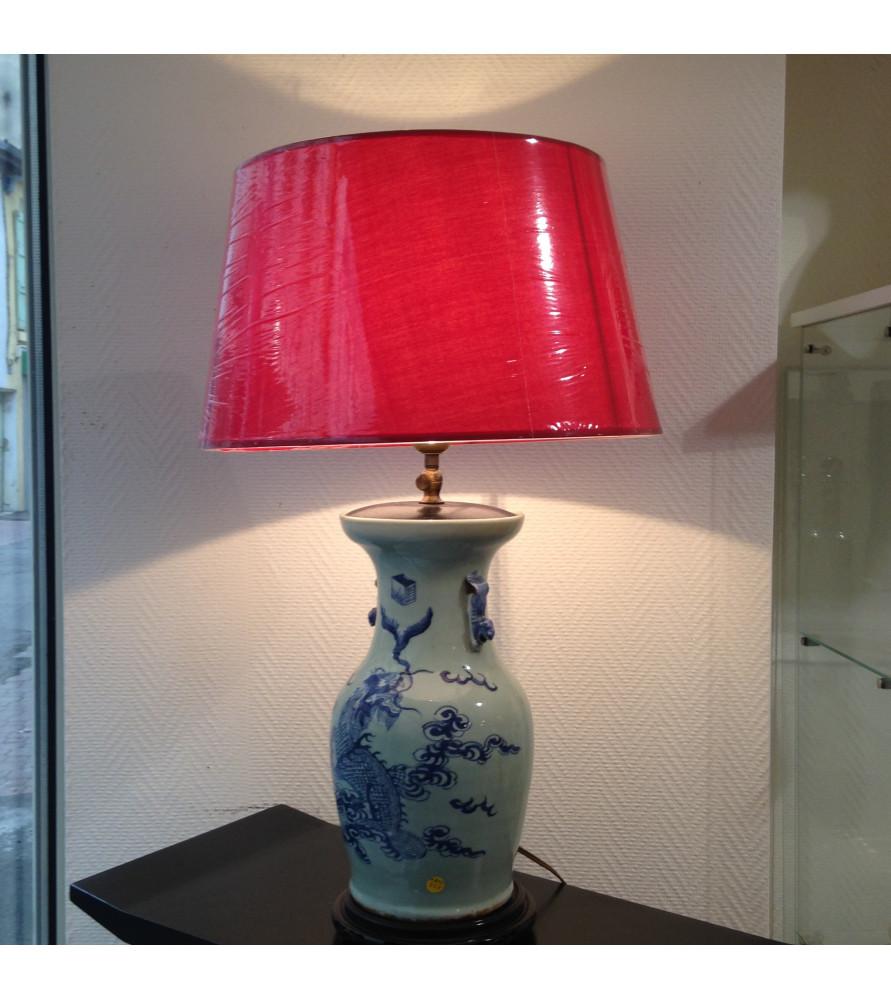 lampe chinoise xix me vendue par notre petite brocante valence. Black Bedroom Furniture Sets. Home Design Ideas