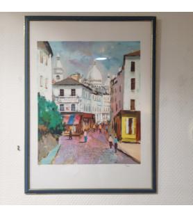 Héliogravure du Sacré Coeur à Montmartre
