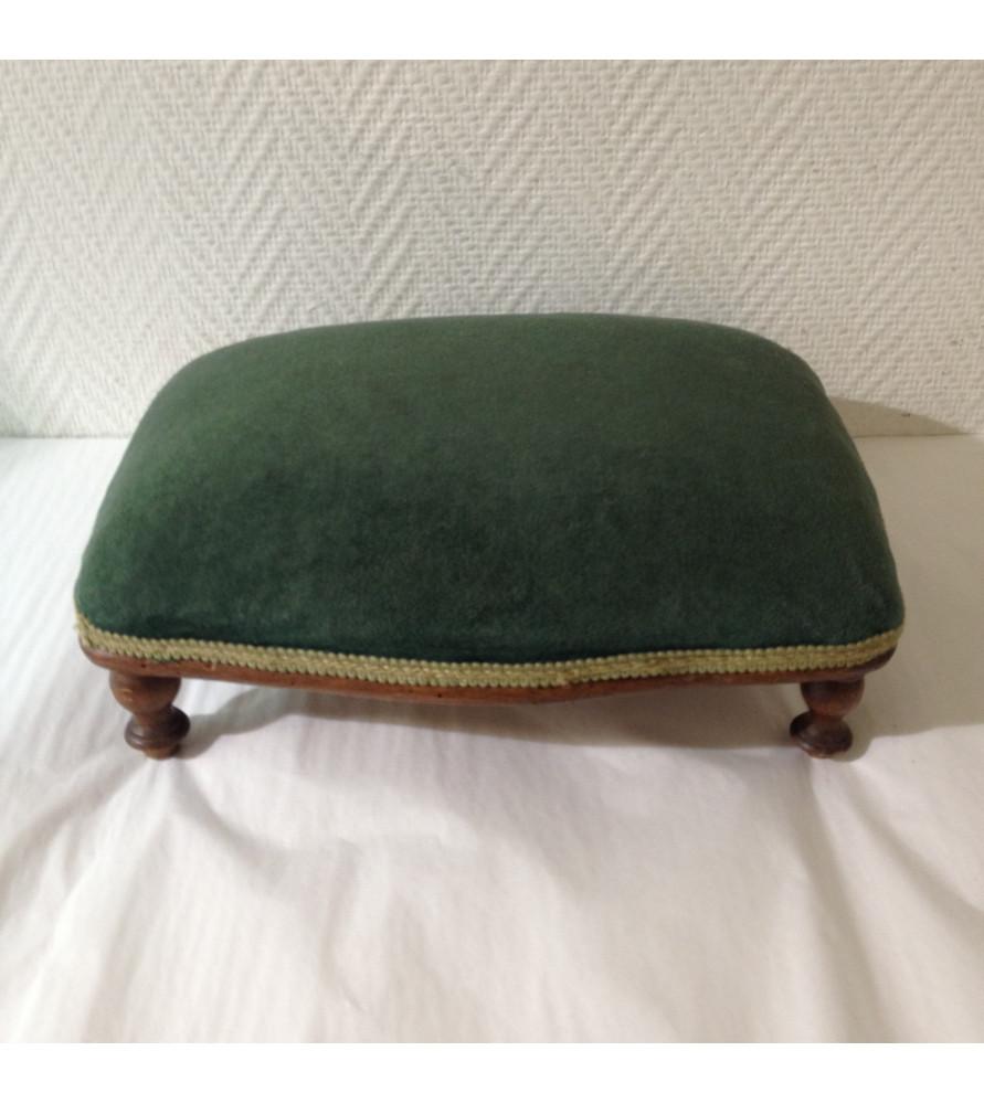 repose pied velours vert vendu par notre petite brocante valence. Black Bedroom Furniture Sets. Home Design Ideas