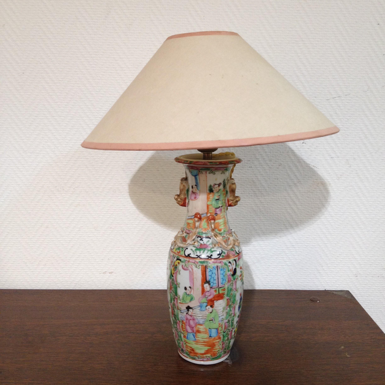 Lampe Porcelaine Chinoise Vendue Par Notre Petite Brocante A Valence