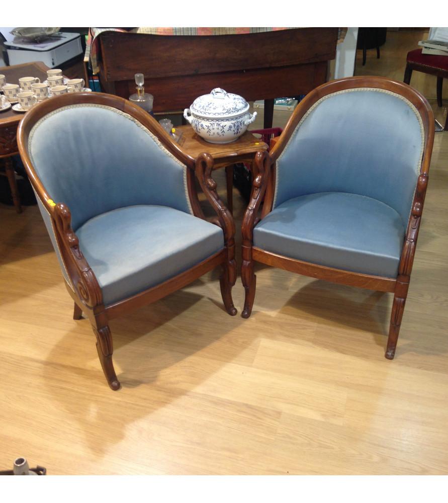 fauteuils gondole style empire vendus par notre petite brocante valence. Black Bedroom Furniture Sets. Home Design Ideas