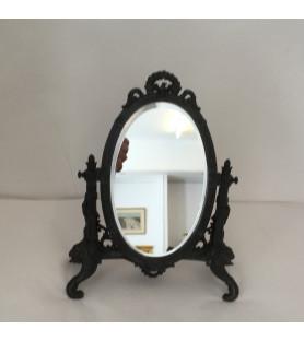 """Miroir ovale """"à poser"""" de style Empire"""
