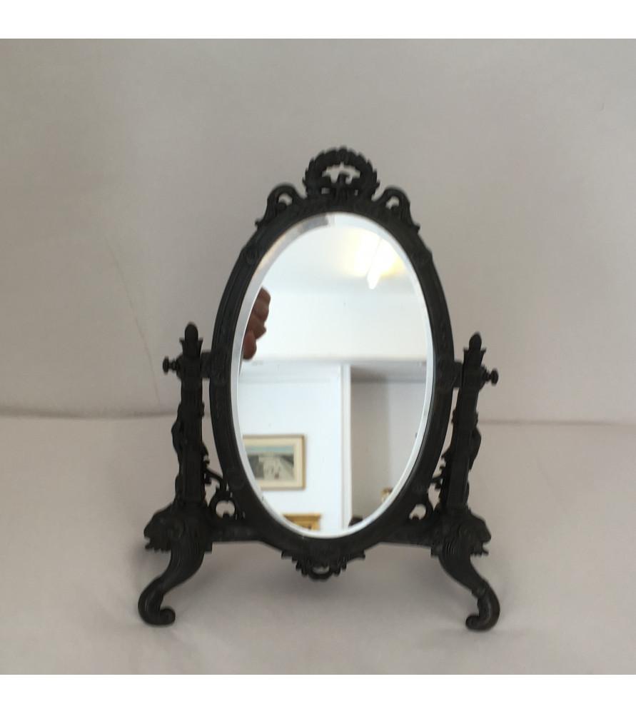 Miroir poser de style empire vendu par notre petite for Miroir a poser par terre