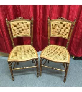 Paire de chaises provençales cannées