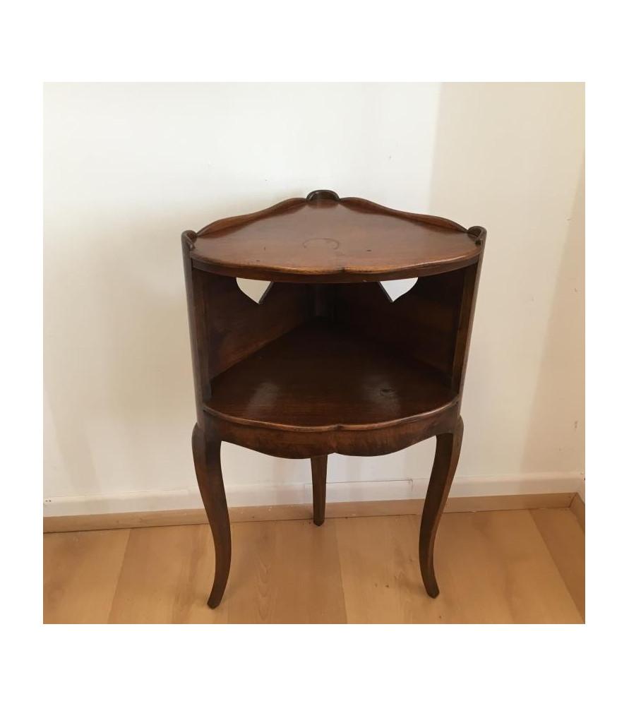 chevet d 39 angle en bois vendu par notre petite brocante valence. Black Bedroom Furniture Sets. Home Design Ideas