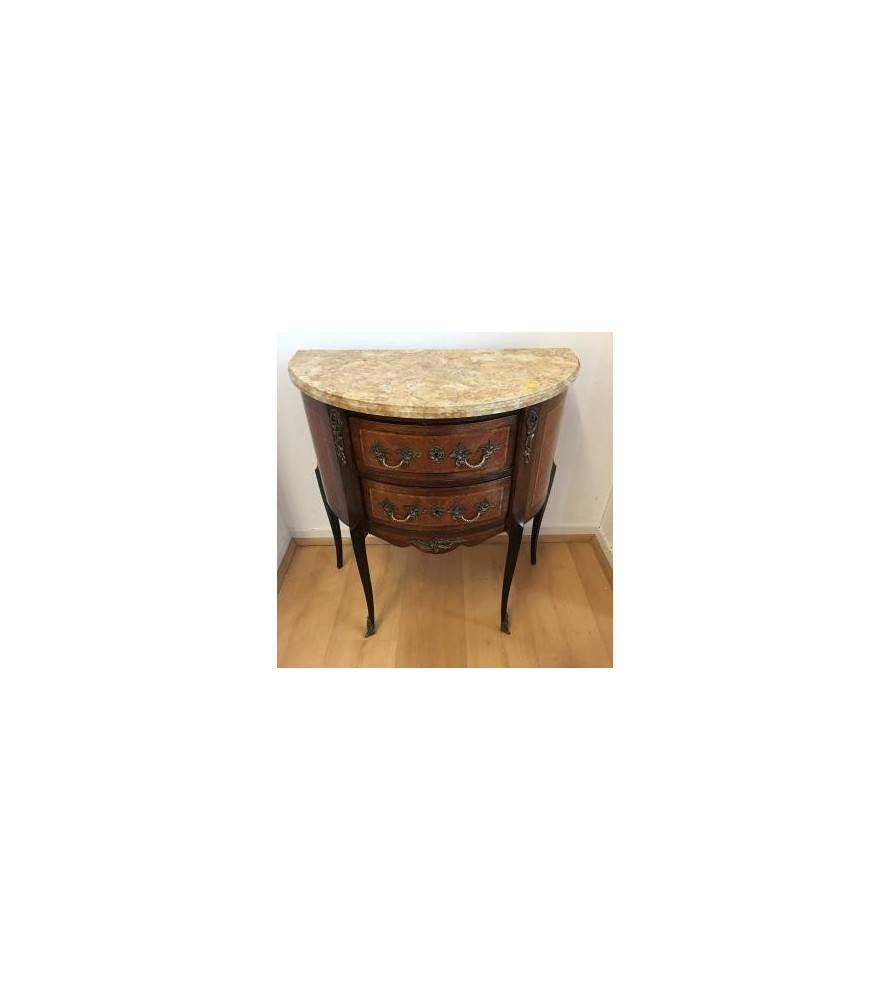 Petite commode demi-lune style transition