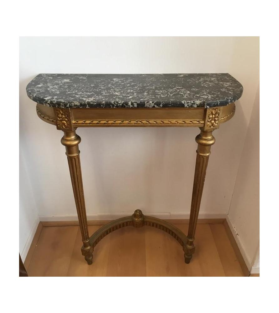 Console en bois doré de style Louis XVI