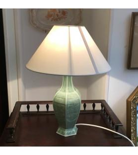 """Lampe en porcelaine vert """"céladon"""""""