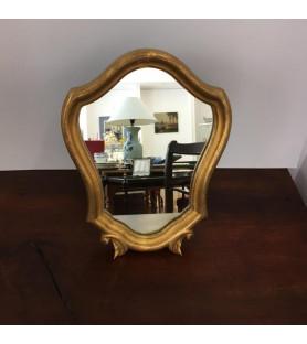 Petit miroir psyché en bois doré