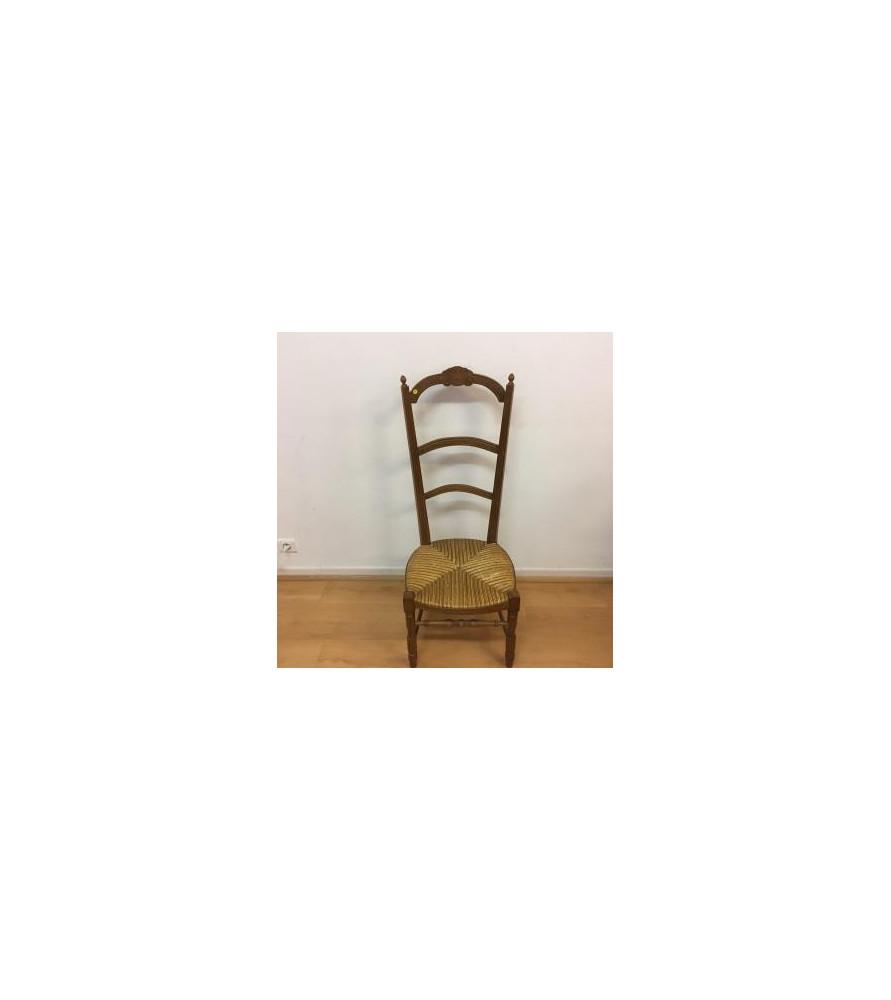 Ancienne Chaise De Nourrice Paillee