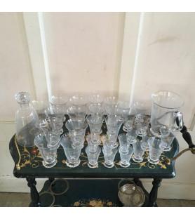 Service de verres Daum et carafes