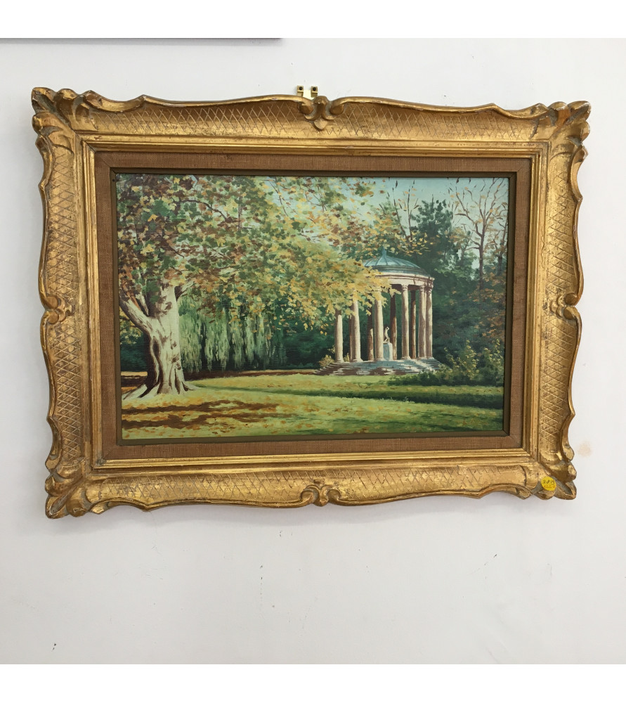 Versailles : Le temple de l'Amour huile sur toile XIXème-XXème