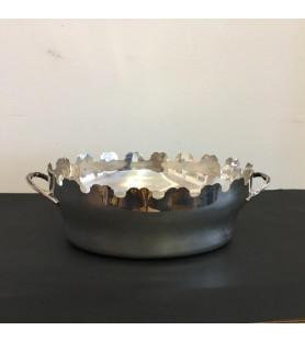 Rafraichissoir en métal argenté