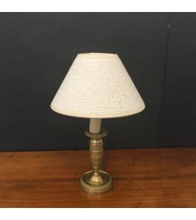Petite lampe en bronze doré