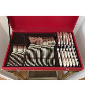 Ménagère en métal argenté 48 pièces
