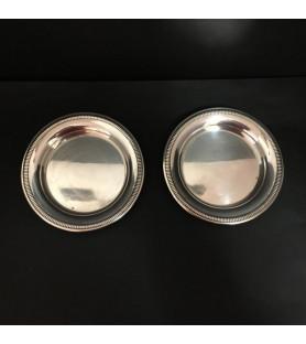 Dessous de carafes en métal argenté