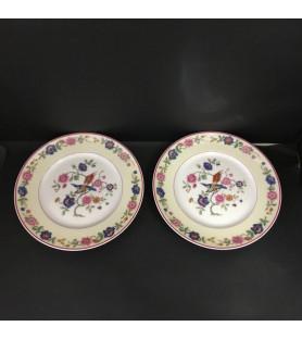 Ensemble de belles assiettes en porcelaine de Limoges