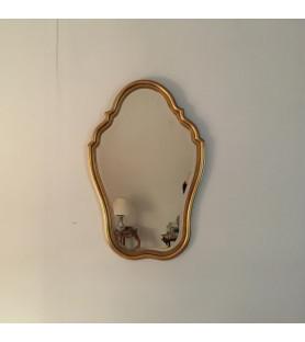 Miroir biseauté en bois doré