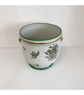 Grand cache pot en porcelaine
