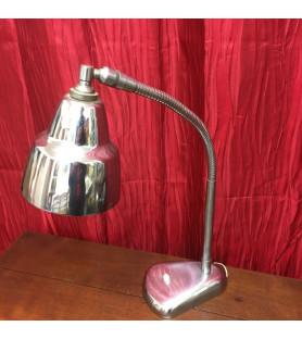 Lampe en métal chromée ariculée