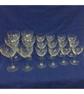 Service de verres en cristal