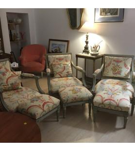 Petit salon de style Louis XVI