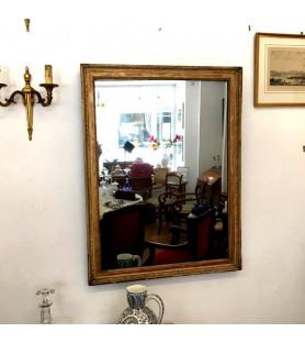 Grand miroir rectangulaire XIXème à décor de frises de palmettes