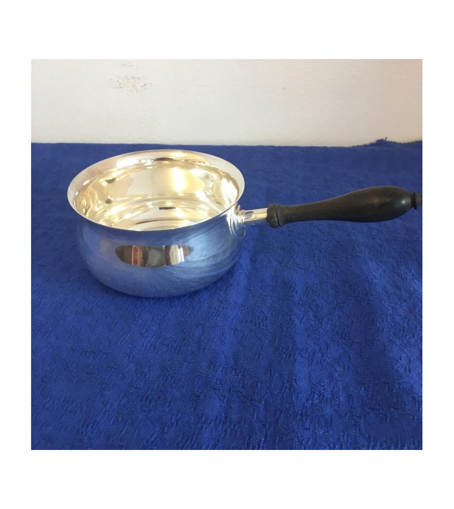 Petite cassolette en métal argenté