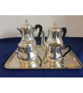 """Service à thé et à café en métal argenté """"Ercuis"""""""