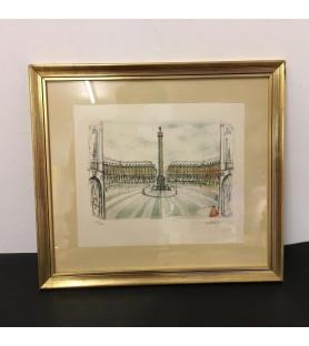Lithographie de la Place Vendôme