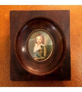 Miniature sur ivoire de Louis XVII