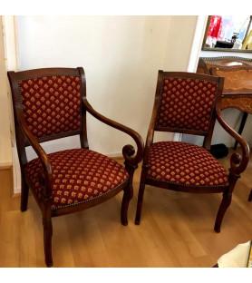 Paire de fauteuils à crosses XIX ème