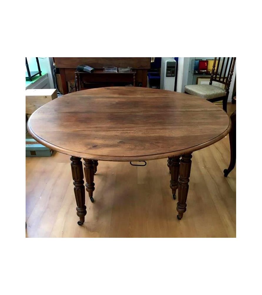 Table à volets avec 3 rallonges