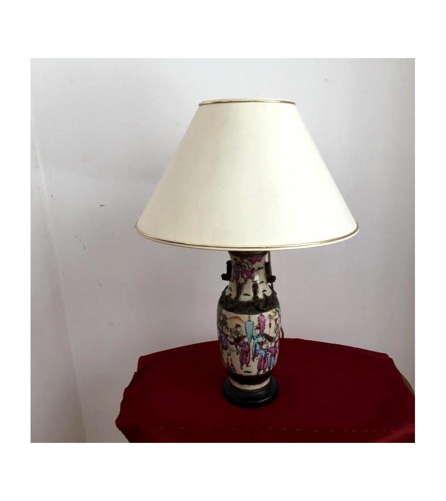 Vase Nankin monté en lampe
