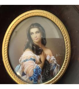Miniature de l'Impératrice Sissi