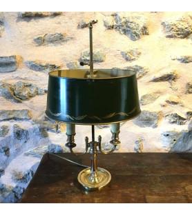 Lampe bouillotte en bronze doré de style empire
