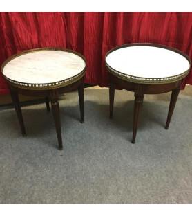 Tables bouillotte de style Louis XVI