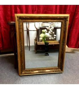 Miroir ancien en bois et stuc doré époque Restauration